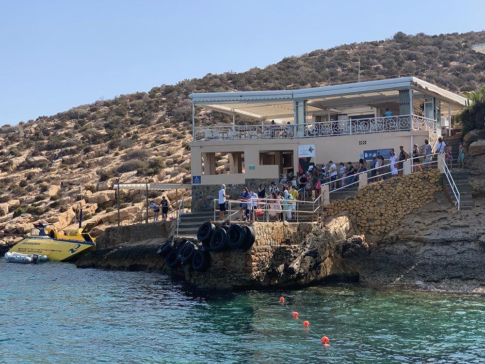 Restaurante de la Isla de Benidorm