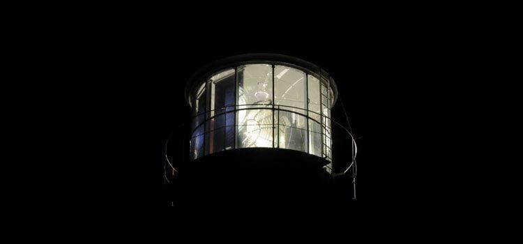 Faro de Corrubedo de noche