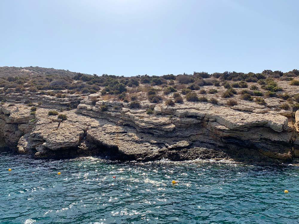 Llegando a la Isla de Benidorm