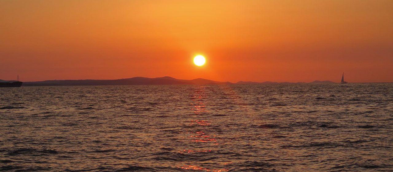 Atardecer desde el Órgano de Mar de Zadar