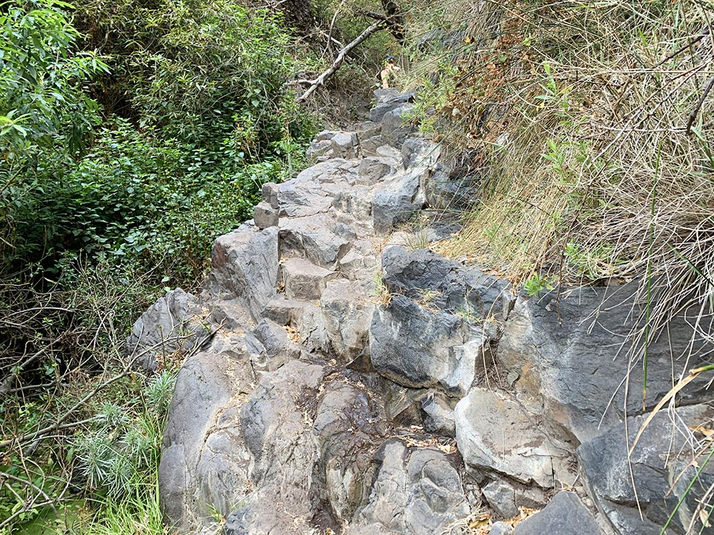 Zona de la ruta muy cercana a la Cascada de Arure